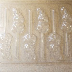 Candy molds , Easter bunny and reindeer